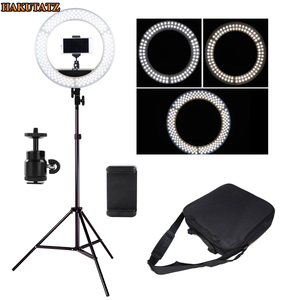 Image 2 - Dimmable 13 inches 45W LED SMD 5500K Ring Light Kit with Bag, Filter Set, Extended Mini Ball Head, Cellphone Holder, Light Stand