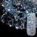 Abulón deslumbrante Lentejuelas Transparentes Polvo DIY Decoraciones Del Clavo Del Brillo Del Arte Del Clavo Diseños Azul Acrílico ULTRAVIOLETA Mix Glitter Powder 282