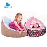 Levmoon Medium Bean Bag Chair Kids Bed For Sleeping Portable Folding Child Seat Sofa Zac Without The Filler