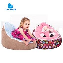 Levmoon médio saco de feijão cadeira crianças cama para dormir portátil dobrável assento criança sofá zac sem o enchimento
