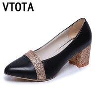VTOTA High Heels 2017 Summer Shoes Woman Breathable Women Wedding Shoes Fashion Ladies Single Shoes Pumps