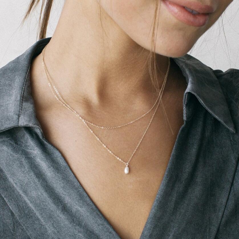 Многослойный Кристалл лунные ожерелья и кулоны для женщин винтажное очаровательное Золотое колье ожерелье богемное ювелирное изделие - Окраска металла: CS050022