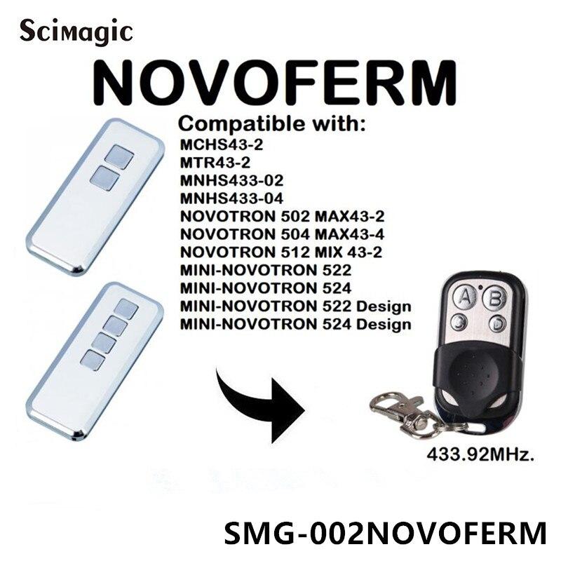 NOVOFERM Mini-Novotron 522 Design Garage Command Remote Control NOVOFERM Handheld Transmitter Rolling Code 433.92mhz Key Fob