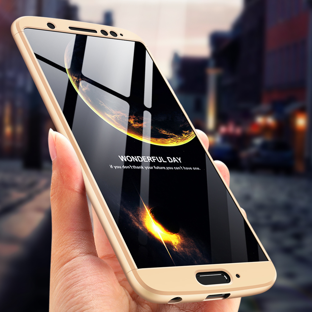 Luxury 360° Full Protection+Tempered Glass Case Cover for Moto G5s Plus G6