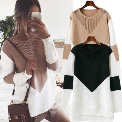 2019 New Hot Fashion Women Sweater Casual Long Sleeve Jumper Pullover Tops Ladies Knitwear Sweater Soft Coat Jacket Outwear