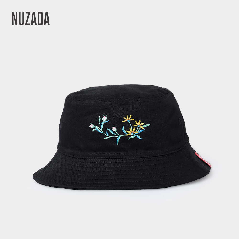 new style f6b83 64984 NUZADA 4 Colors Cotton Embroidery Women Bucket Hat Double Sided Can Be Worn Fisherman  Hats Spring Summer Caps Autumn