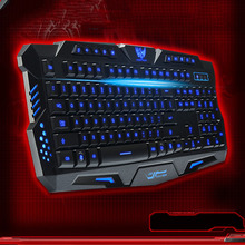 Mechanical Sense Backlit Keyboard Tricolor luminescent Keyboard M200 Internet Cafe Computer Gaming Keyboard
