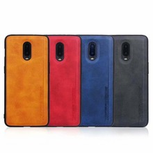 Fashion Case For OnePlus 6 6T 7 Pro PU leather + PC + Soft TPU Silicone Shockproof Case Cover Skin