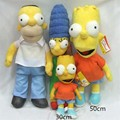 3pcs/set Newest Cartoon Movie The Simpsons Plush Doll Toys Simpsons Family Plush Toy Best Gifts 30cm and 50cm Retail
