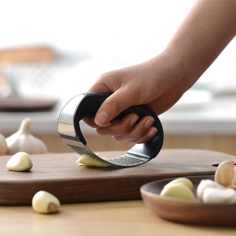 Gekwalificeerd Steel Knoflookpers Manumotive Mini Keuken Machine Praktisch Apparaat Eenvoudige Klikken Gehakt Knoflook Rvs Cutter