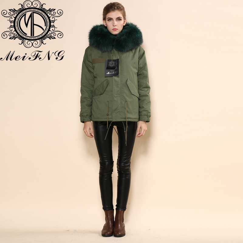 Aliexpress.com : Buy Italy fur lined hood wool coat brand name ...
