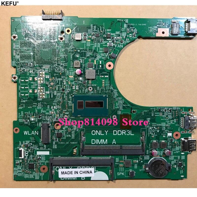 все цены на KEFU CN-03499V 3499V FOR Dell Inspiron 3458 3558 Laptop Motherboard 14216-1 PWB:1XVKN REV:A00 SR210 3805U mainboard NOTEBOOK PC онлайн
