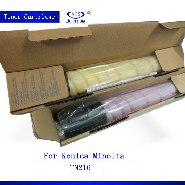 1PCS TN216 BK 524G CMY 437G toner cartridge for Konica Minolta C220 C360 C280 high quality compatible toner powder 4 pack high quality toner cartridge for konica minolta bizhub c221 c281 compatible tn220 bk c y m full