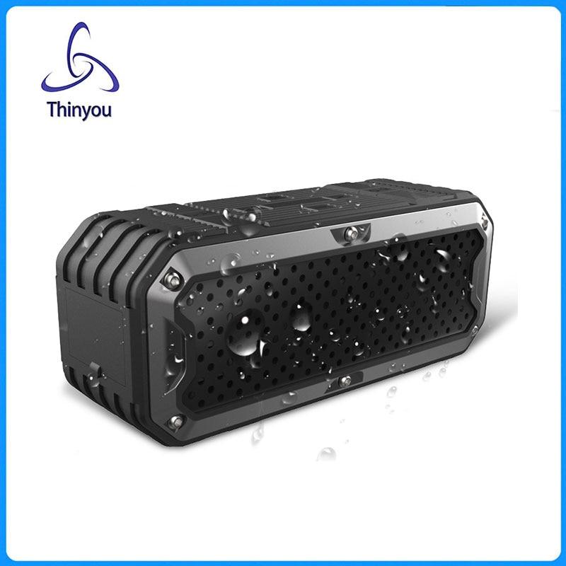 ФОТО Thinyou Portable Subwoofer Waterproof 3W*2 Wireless Bluetooth Speaker Multifunctional Handsfree Receive Call Music Bass Sound