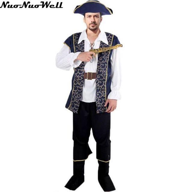 Heiße Neue Rogue Pirate Kostüm Männer Männliche Halloween Kostüm Für