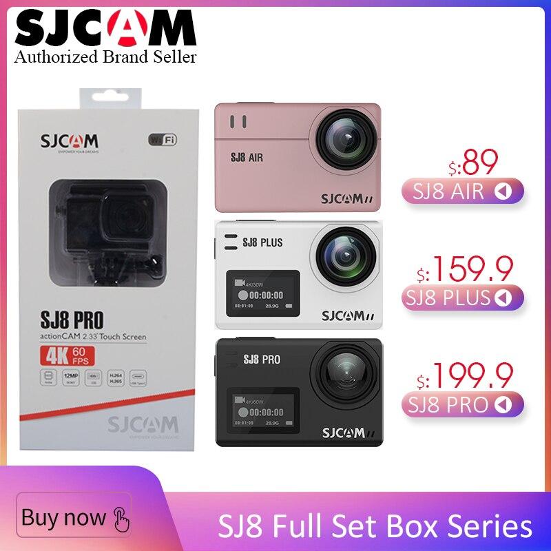 100% D'origine SJCAM-SJCAM SJ8 Pro & SJ8 Plus & SJ8 Air WiFi À Distance Casque Action Sports Caméra Full Accessoires Ensemble grande Boîte