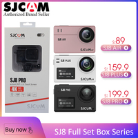 100% Original SJCAM SJCAM SJ8 Pro & SJ8 Plus & SJ8 Air WiFi Remote Helmet Sports Action Camera Full Accessories Set Big Box