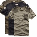 2016 High Quality Plus Size XXXL Summer Camouflage Army Green t shirt Men Brand Famous Loose Airborne Division t-shirt Men