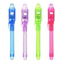 1 шт., разные цвета, проверяющие деньги, волшебные шариковые ручки, инструмент для секретного обучения, 2 в 1, Невидимый УФ-светильник, многофункциональная ручка