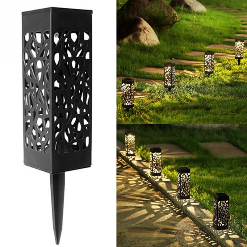 Antique Solar Power Flower Lantern Outdoor Light Waterproof Garden Yard LED Decor Landscape Lawn Lamp Hanging Energy Saving 0813 one light frosted glass antique rust hanging lantern