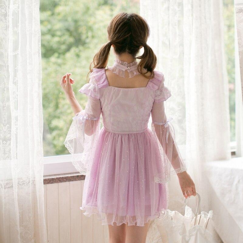 Lolita Lunga Dalla Ragazza Manica Principessa Dolce Bella Della C22cd7183 Grenadine Vestito Caramella Pioggia Da Autunno BgRwZqFx