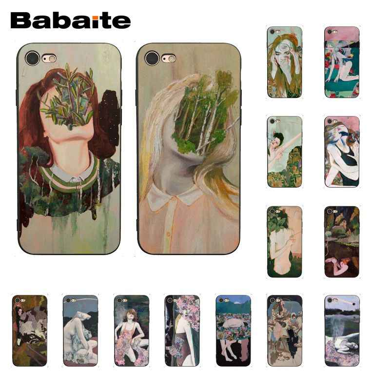 Babaite Trippy artystyczny obraz etui na telefon iphone 11 Pro 11 Pro Max 8 7 6 6S Plus 5 5S SE XR X XS MAX