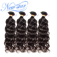 New Star Hair Brazilian Natural Wave Hair Weaving 4 Bundles Deal Thick Extension 100% Unprocessed Virgin Human Hair Weave