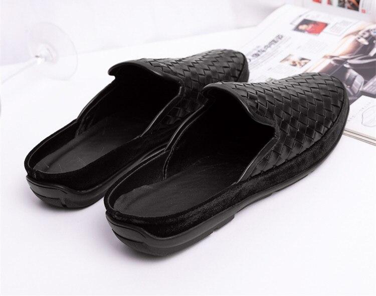 2019 جلد أصلي للرجال 39 s الصنادل حذاء كاجوال الغنم النعال التهوية اليد حك عالية الجودة الأزياء دوغ أحذية-في أحذية رجالية غير رسمية من أحذية على  مجموعة 3