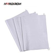 HARDIRON 10PCS Wholesale Custom Thick White Woven Bag Moving Package Snake Skin Rice Flour Plastic Sack