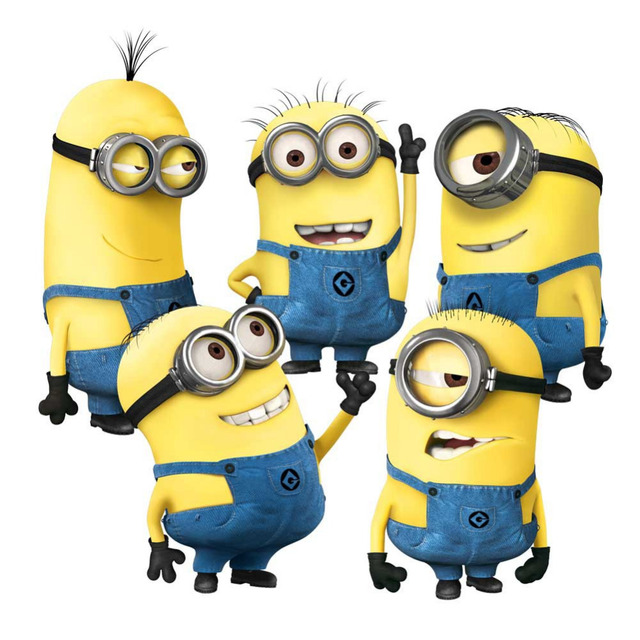 minions movie wall stickers for kids room home decorations 1404. diy pvc cartoon decals children gift 3d mural arts posters 3.0
