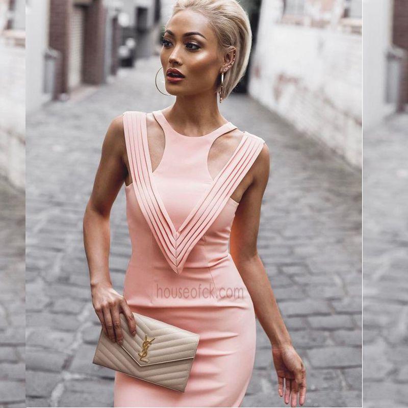 New Style Ladies HL Bandage Dress Sleeveless Sexy V Neck
