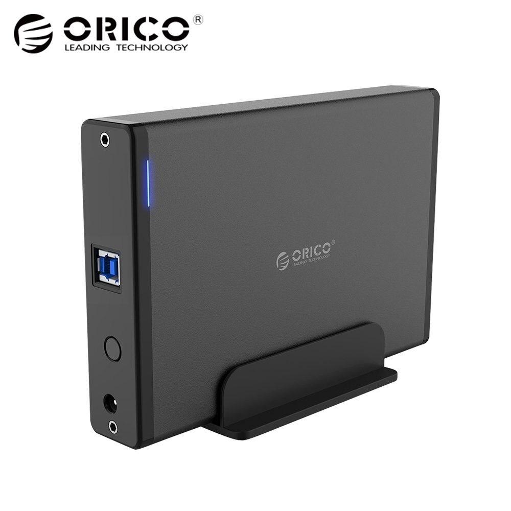 ORICO Aluminium Festplatte HDD Gehäuse USB3.0 zu SATA3.0 3,5 zoll HDD Docking Station Unterstützung UASP 12V2A Power