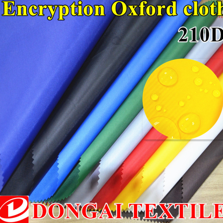 Tamaño 1*1,5 m tela impermeable Durable 210D Oxford poliéster repelente al aire libre ligero recubierto con tela PU 1 metro 60