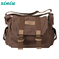Xiniu Outdoor Waterproof Anti Theft Leisure Canvas Photography Package Camera Bag Case Travel Photo Bag Single