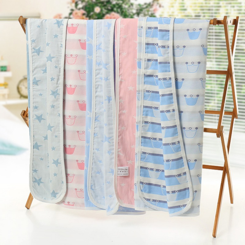 Kids Baby Thicken Double Layer Swaddle Cartoon Printing Newborn Lovely Blanket Bath Towel Bed Sheet Wrap 90 x 90 cm
