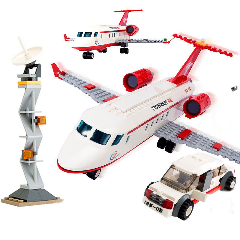 334pcs City Airplane Toy Air Bus Model Airplane VIP Private Jet DIY Building Blocks Bricks Educational Toys For Children Gifts hot city series aviation private aircraft lepins building block crew passenger figures airplane cars bricks toys for kids gifts