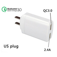 QC 3 0 Mobile Phone Charger For Samsung Iphone Fast Charging Dual USB EU US Plug
