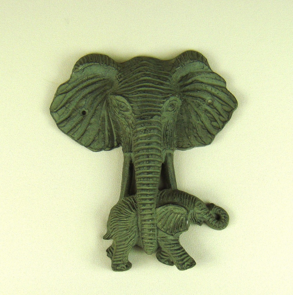 Wall Hanging Cast Iron Elephant Head Sculpture Creative Metal Wild ...