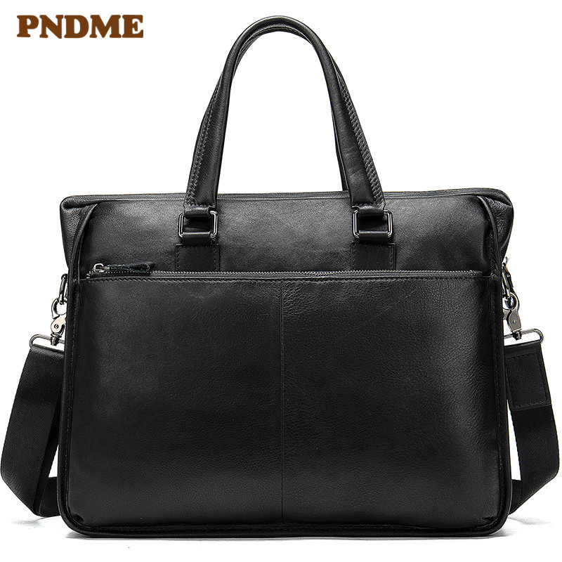 Top Layer Cowhide Outdoor Multi Functional Men's Briefcase Casual Cross Shoulder Bag