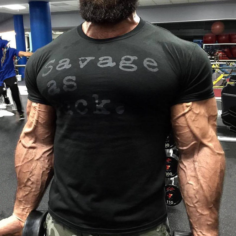New Gym Muscle Bodybuilding Black Leather Fitness Lifting: Mens Bodybuilding Cotton T Shirt 2018 New Short Sleeve