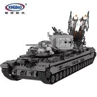 XingBao 06006 творческая MOC военной серии строительные блоки кирпичи игрушки Новый KV 2 Танк набор образования детей модель подарок