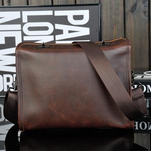 Image 2 - WESTAL خمر بولي Leather جلد الرجال حقيبة الرجال حقيبة ساع موضة الكتف حقيبة كروسبودي بولي Leather حقيبة يد جلدية باد حقيبة سفر جديد