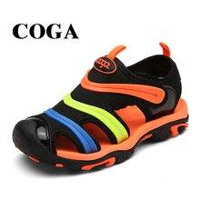 COGA fabric summer boy sandals toe wrap sandal kids shoes fashion sport
