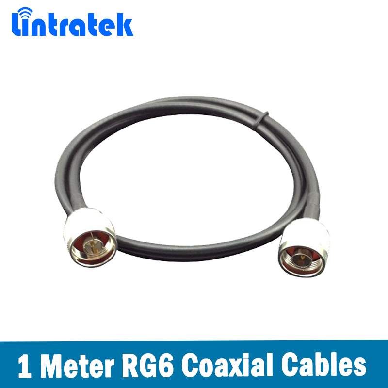 Black 1m N Male Connector 1 Meter Cable For Connecting Outdoor /Indoor Antenna To Mobile Signal Booster @7.8