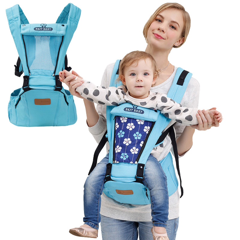 High Quality Baby Ergonomic Hipseat Carrier Toddler Breathable Floral Cotton Backpack Infant 4 Seasons Wrap Slings 0-36Months baby hipseat four seasons breathable baby shoulder carrier cotton baby carrier infant backpack for kids toddler sling md bd08