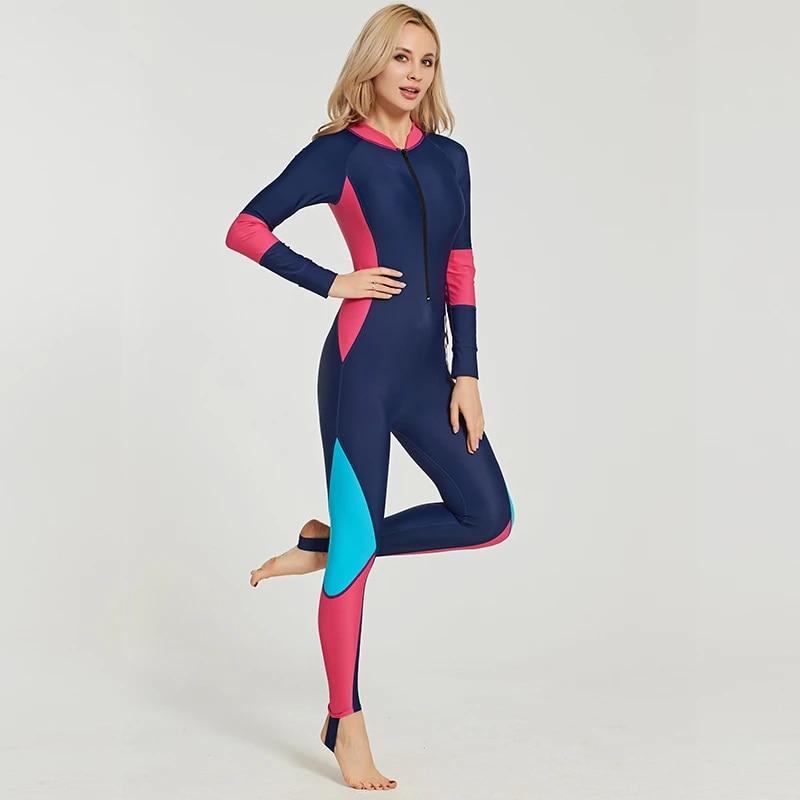 Women Kids Lycra Dive Skin One Piece Swimsuit Zipper Jumpsuit Full Body Bodysuit