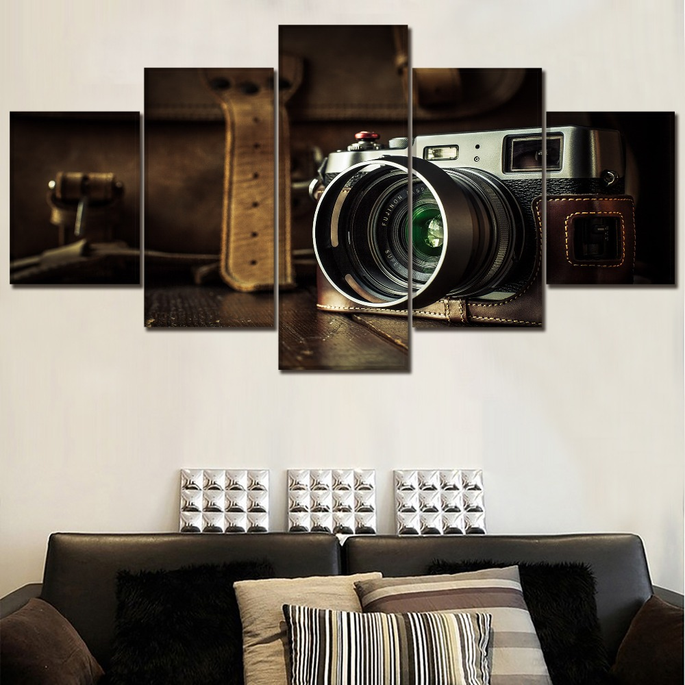 Retro Camera Canvas Painting Home Decor