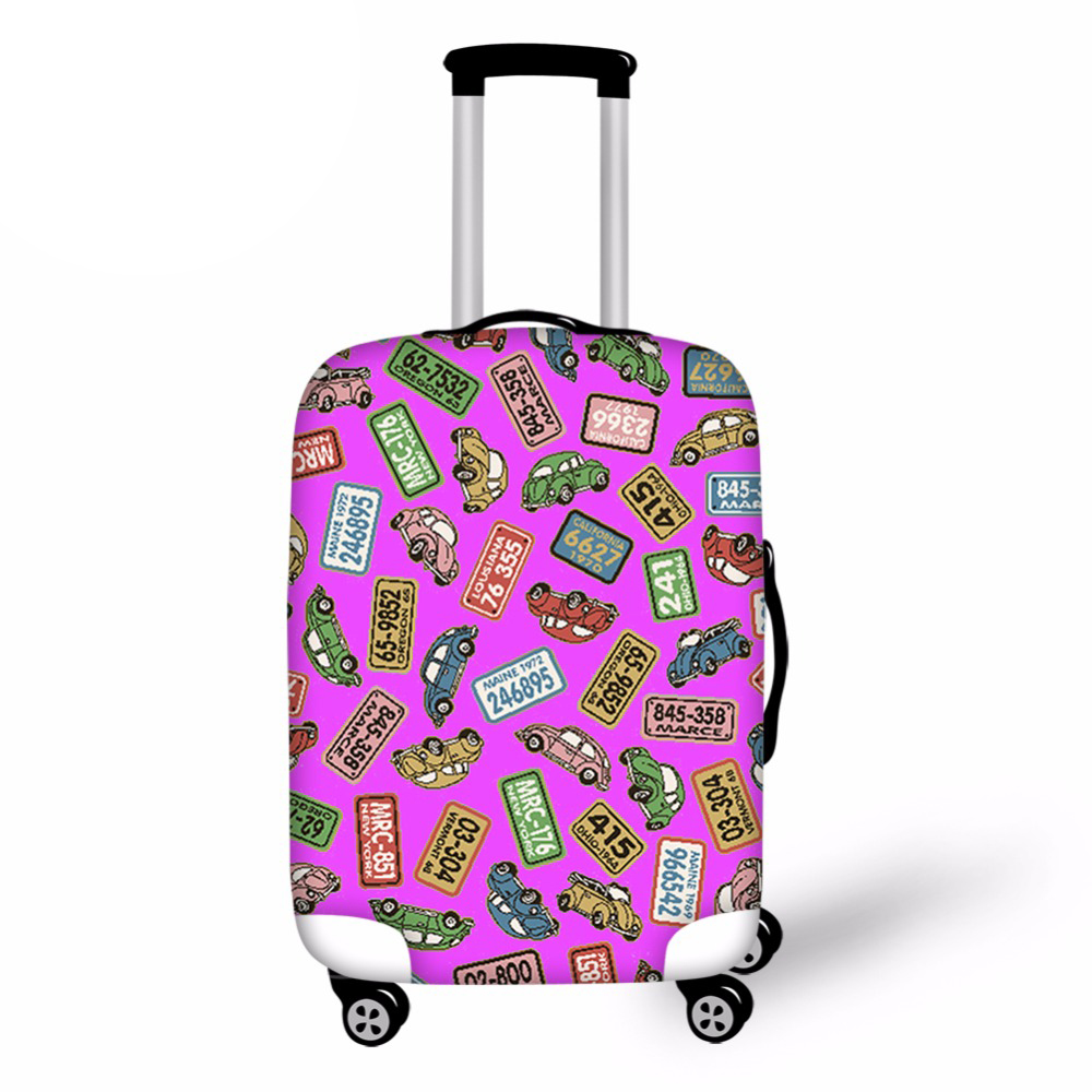Pretty Travel Luggage Cover Character Waterproof Suitcase Cover For 18/20/22/24/26/28/30inch Luggage Set Spandex