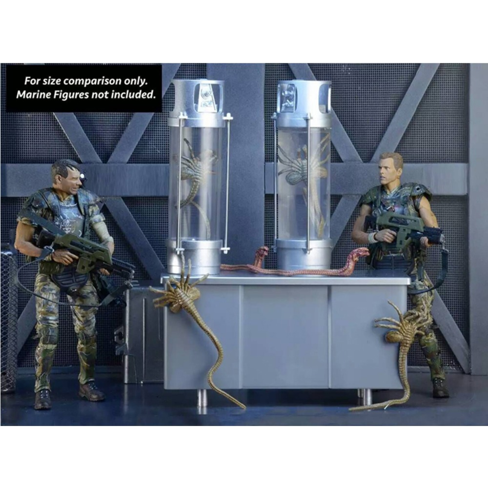 Classic Movie Anime NECA Alien Creature Pack 30th Anniversary Deluxe Creature Accessory LED Light PVC Figure Model Toy NE011088 фигурка planet of the apes action figure classic gorilla soldier 2 pack 18 см