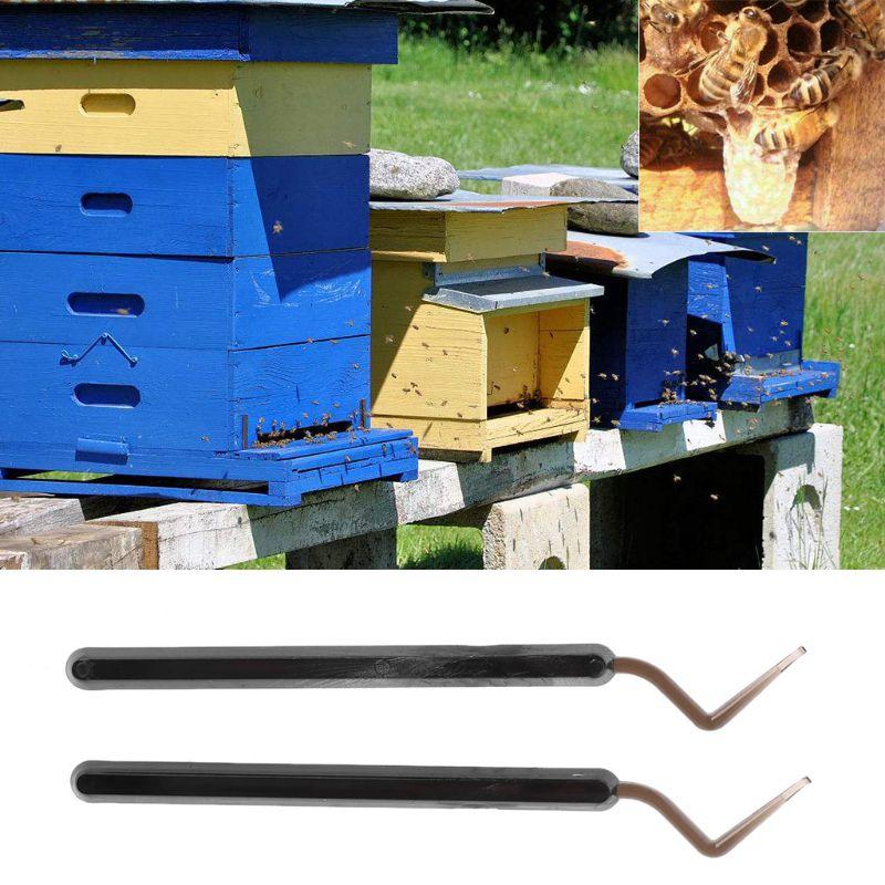 Image 2 - 2Pcs Hive Queen Rearing Plastic Bee Needle Beekeeping Stainless Steel Bee Grafting Tools-in Beekeeping Tools from Home & Garden
